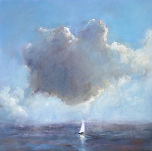 Little boat, Oil / canvas, 2008, 70 x 70 cm, Sold