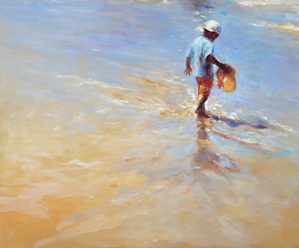Beach fun, Oil / canvas, 2008, 100 x 120 cm, Sold