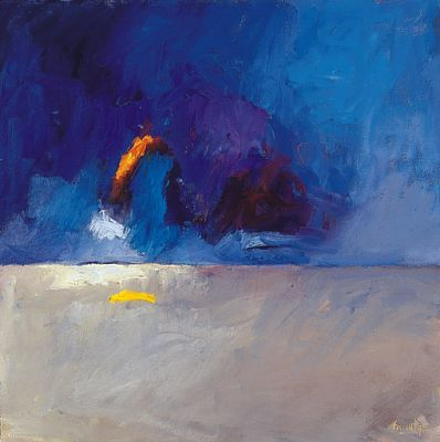 Beach, Oil / canvas, 1999, 40 x 40 cm, Sold
