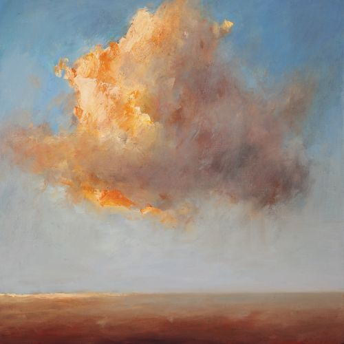 Sky & Land II, Oil / canvas, 2008, 50 x 50 cm, Sold
