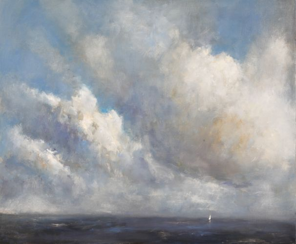 Sailing dinghy, Oil / canvas, 2008, 100 x 120 cm, Sold