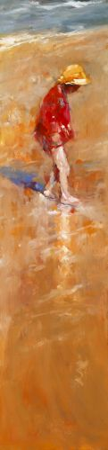 Beach fun II, Oil / canvas, 2008, 120 x 30 cm, Sold