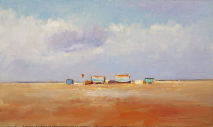 Beachmark 7, Oil / canvas, 2008, 60 x 100 cm, Sold