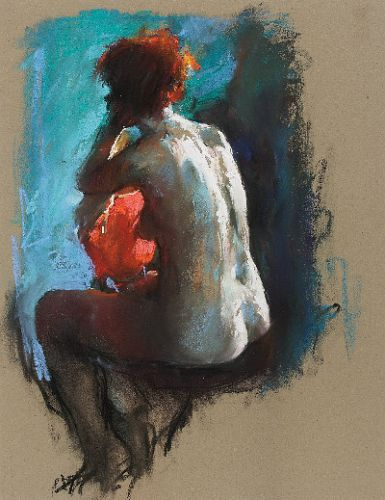 Moon girl, Pastel, 2006, 50 x 38 cm, Sold