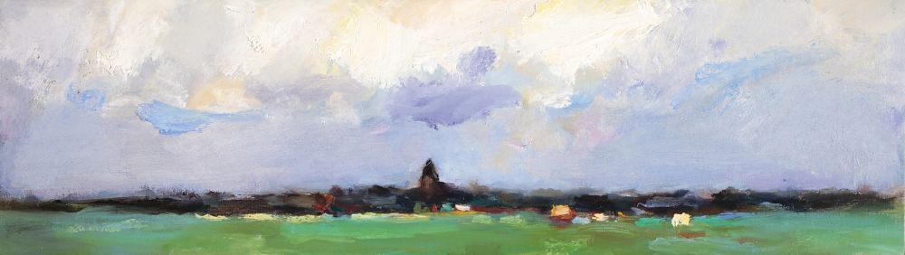 Oudega, Oil / canvas, 2008, 17 x 50 cm, Sold