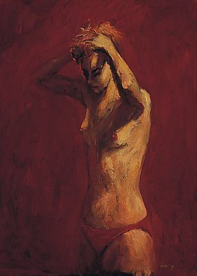 Gritta, Oil / canvas, 1994, 70 x 50 cm, Sold