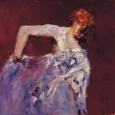 Model with white cloth, Oil / canvas, 1999, 100 x 100 cm, Sold