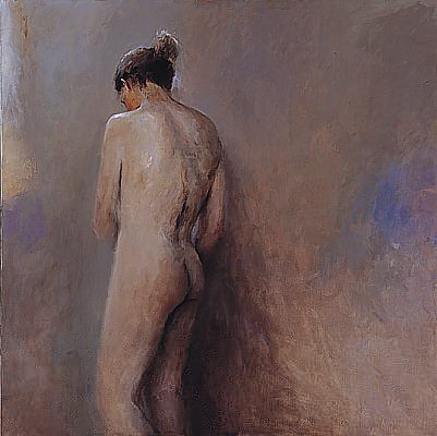 Standing nude, Oil / canvas, 2000, 120 x 120 cm, Sold