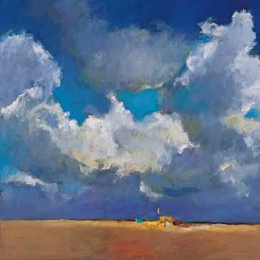 Beachmark 7, Oil / canvas, 2001, 100 x 100 cm, Sold