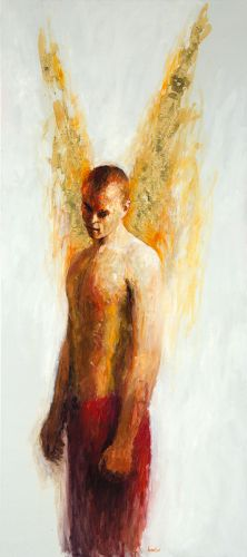 Strong angel, Oil / canvas, 2001, 180 x 80 cm cm, Sold