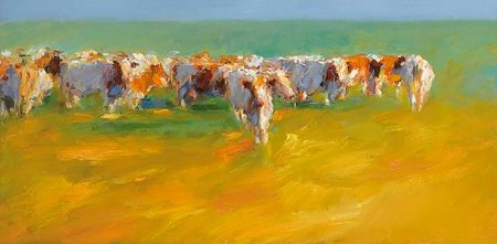 Red cows in late summerlight, Giclée - Fine Art Paper, 2009, 35.0 x 70.0 cm cm, € 180,-