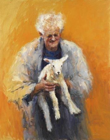 Old man with lamb, Fine Art Paper, 2006, 63 x 50 cm, € 180,-