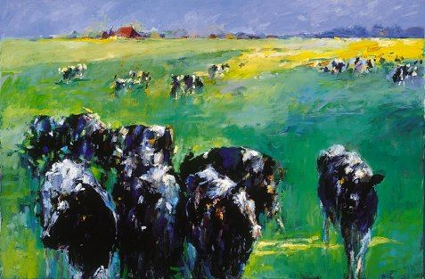 Cows II, Oil / canvas, 2001, 100 x 120 cm cm, Sold
