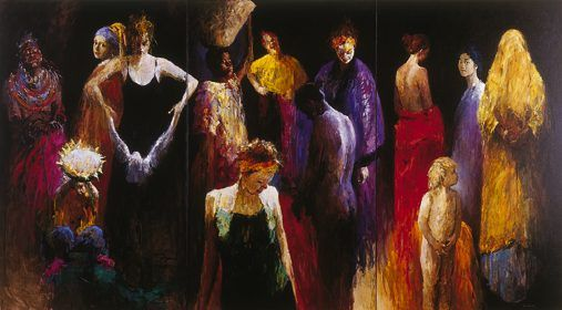 Women, Oil / canvas, 2001, 200 x 360 cm, Sold