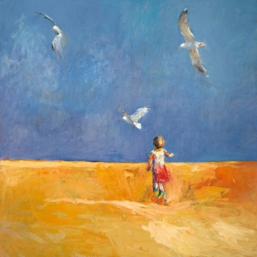 Freedom, oil / canvas, 2002, 140 x 140 cm, Sold