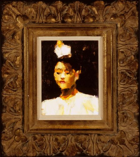 Chinese dancer, Oil / canvas, 2003, 25 x 20 cm cm, € 2.500,-