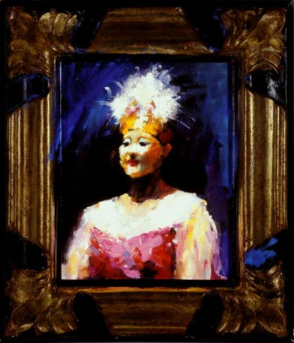 Chinese dancer II, Oil / canvas, 2003, 25 x 20 cm, Sold