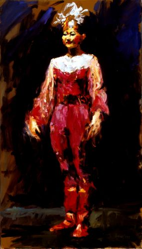 Chinese dancer III, Oil / canvas, 2003, 70 x 40 cm, Sold