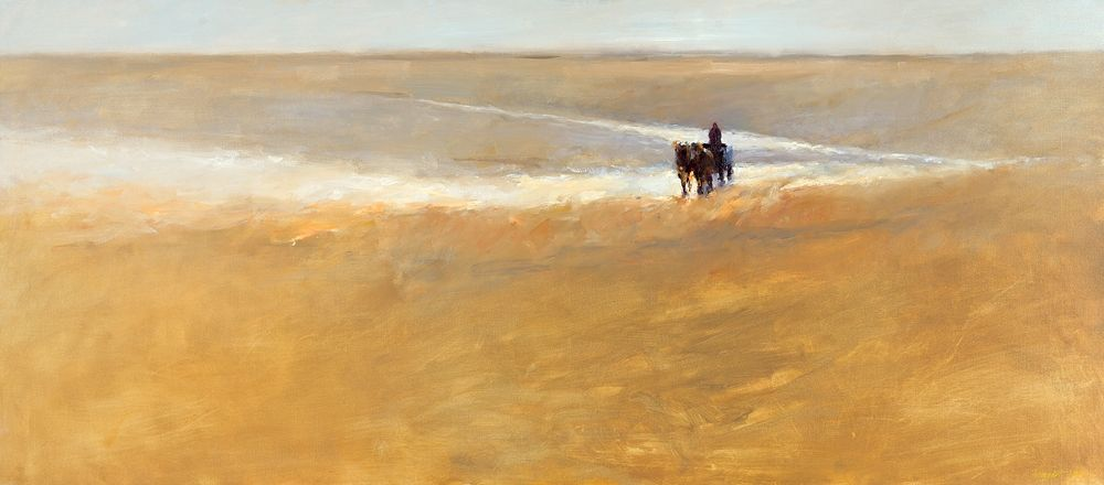 Beach cart IV, Oil / canvas, 2004, 80 x 180 cm, € 7.500,-