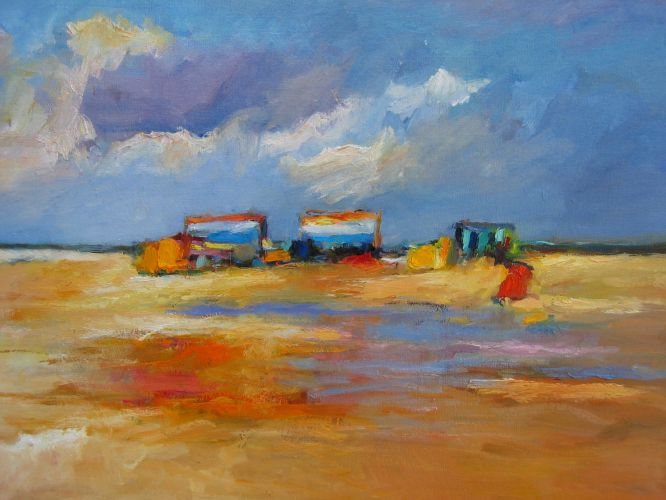 Beachmark 7, Oil / canvas, 2003, 70 x 90 cm cm, Sold