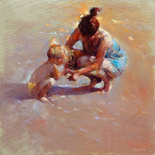Mother & child, oil / canvas, 2012, 60 x 60 cm, Sold